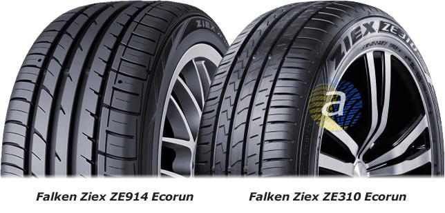 Шини Ziex ZE310 Ecorun і попередня модель Ziex ZE914 Ecorun