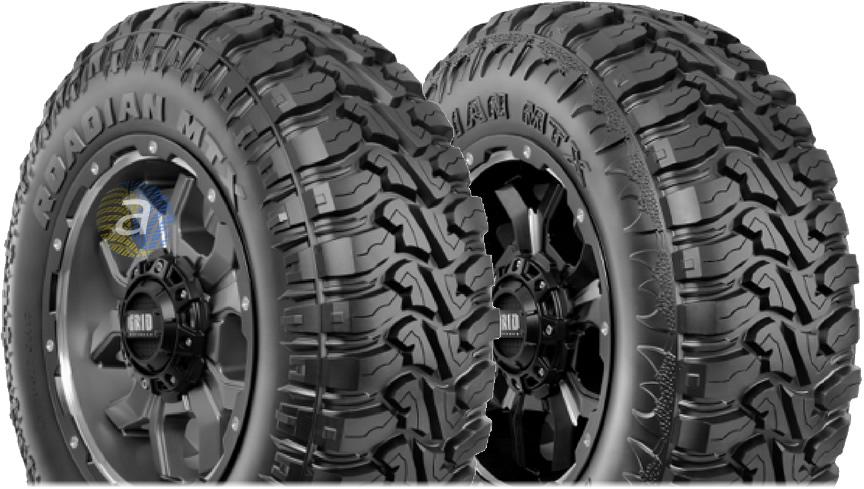 Два дизайну боковин нових грязьових шин Nexen Roadian MTX