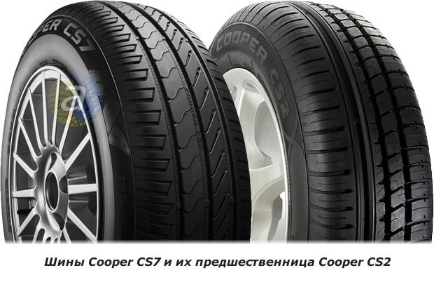 Дизайн протектора шин Купер ЦС7 і Купер ЦС2